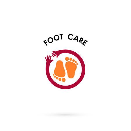Foot Care Logo.Human foot icon.Foot spa concept.Vector illustration.