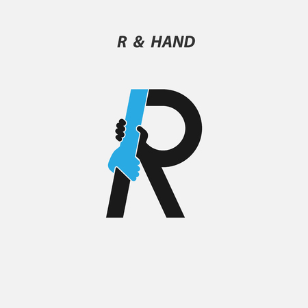 R - Letter abstract icon Illustration