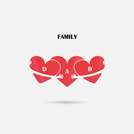 Heart signs vector design template. Love and Happy Family concept. Illustration