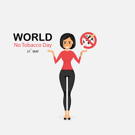 Pretty woman and Quit Tobacco vector