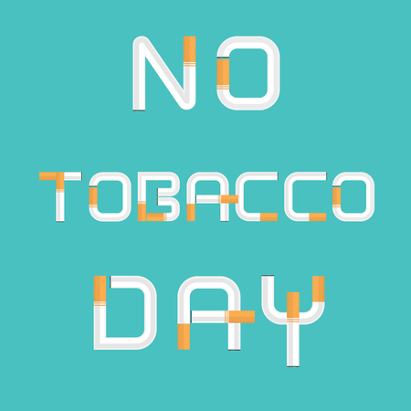 World No Tobacco Day calligraphy background design.World No Smoking Day typographical design elements.May 31st World no tobacco day.No Smoking Day Awareness Idea Campaign.Vector illustration.