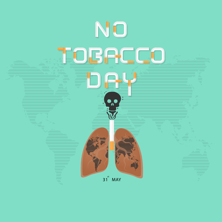 Lung and cigarette icon with Stop Smoking vector design template.May 31st World no tobacco day concept.No Smoking Day.No Tobacco Day Awareness Idea Campaign.