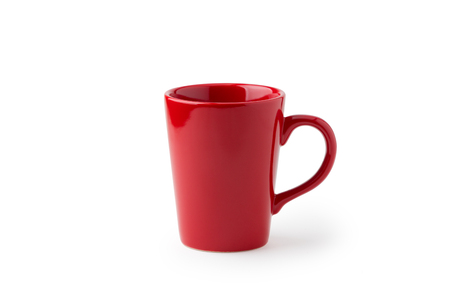 Red cup coffee isolated on white background
