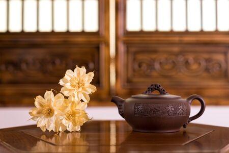 Retro style teapot 写真素材