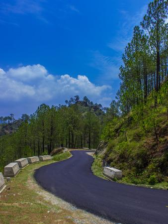 beautiful empty road in mountain