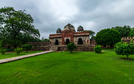 Outdoor Architecture of Humayun Tomb in Delhi Stock Photo