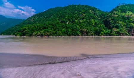alaknanda river in uttarakhand Stock Photo