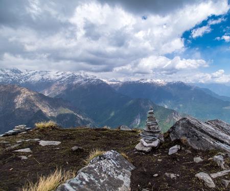 Stepping stones at Chandrashila peak