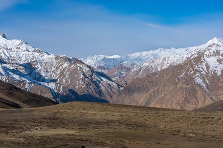 View from langza village - spiti, himachal