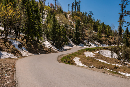 Photo of Beautiful Road to Rohtang pass in himalayas Stock Photo