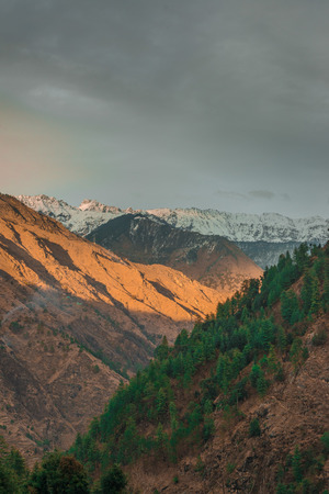Himalayas mountains in twilight. Himachal - India Stock Photo