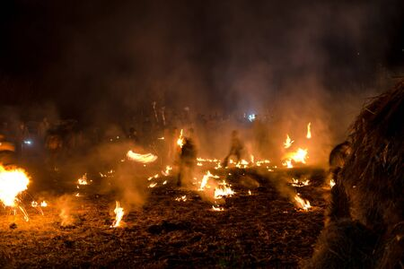 Kullu, Himachal Pradesh, India - December 07, 2018 : Traditional Diwali celebration in mountains in local style - Redactioneel