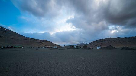 Sunset in Desert - More Plane in Leh Ladakh - 写真素材