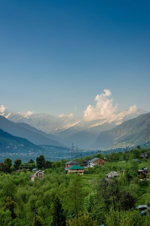 Photo of Himalayan Village Surrounded by Apple Tree - Himachal