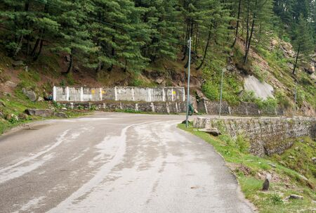 Photo of road in forest in himalayas Stock Photo