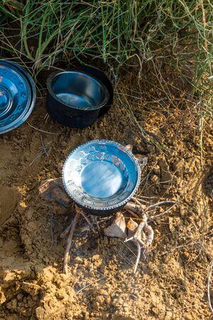 Cooking in Thar Desert in Jaisalmer in Rajasthan India