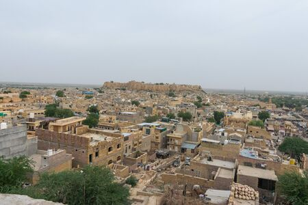 View of Jaisalmer fort and the city, Rajasthan Stock Photo