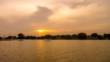 Beautiful Gadisar Lake in Jaisalmer, Golden City