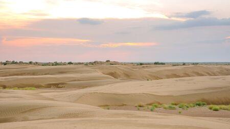 Sunset in Thar desert in rajasthan in India Stock fotó - 132615970