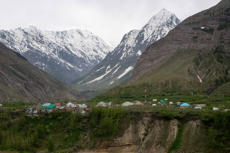 Beautiful village in Himalayas, Lahual Himachal -