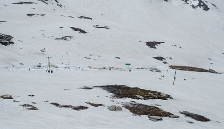 Snow Covered Rohtang pass in June - 写真素材