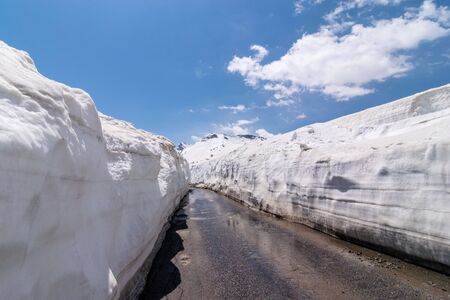 20 feet snow wall - Snow Covered Rohtang pass in June -