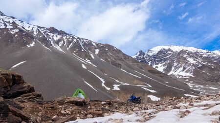 Motorcycle Camping in Ladakh in Winters -
