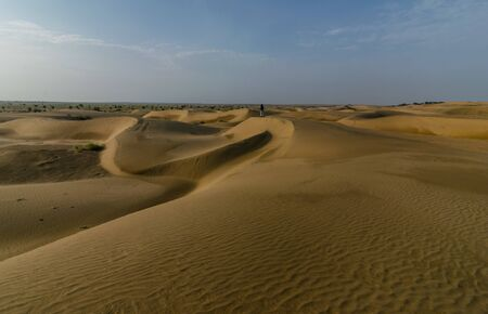 Photo of Thar Desert in Jaisalmer - Rajasthan, India Stock Photo