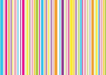 listras: red pink blue yellow green orange retro stripes, white background Imagens