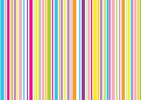 red pink blue yellow green orange retro stripes, white background Stock Photo