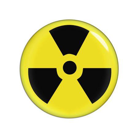 riesgo quimico: amarillo y negro radiaction se�al de advertencia, fondo blanco