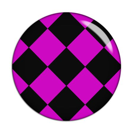pink and black cage sign, white background photo