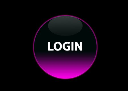 one pink neon button login, black background photo