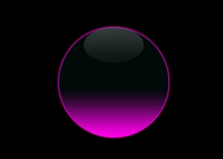one empty pink neon button , black background photo