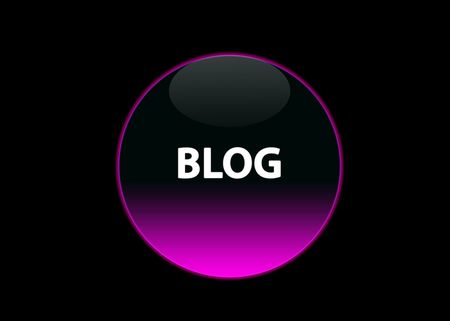 one pink neon button blog, black background photo