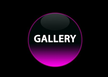 one pink neon button gallery, black background Stock Photo - 3113920