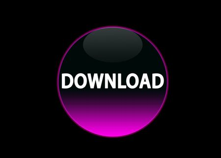 one pink neon button download, black background Stock Photo - 3123519