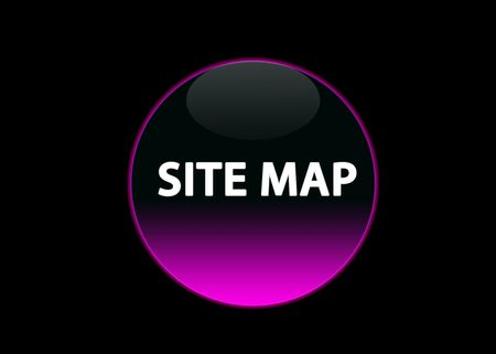one pink neon button site map, black background Stock Photo - 3123517