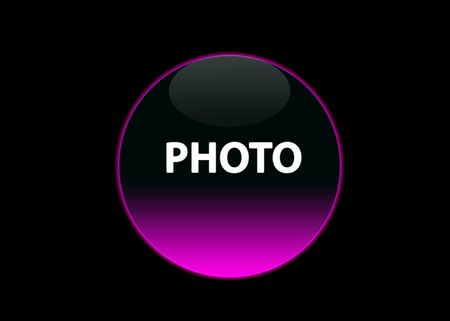 one pink neon button photo, black background Stock Photo - 3123514