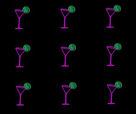 picture about pink martini glasses with green lime photo