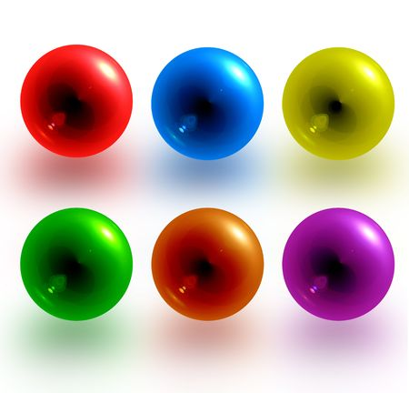 picture about red, blue, yellow, green, orange, violet balls photo