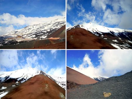 four peaks wilderness: collage of four pictures of mountains