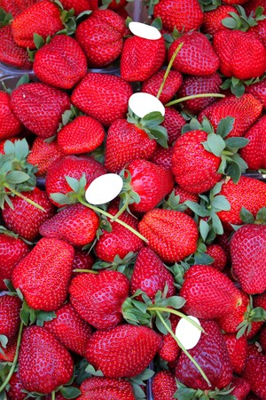 srawberries: Photo of red srawberries on the market