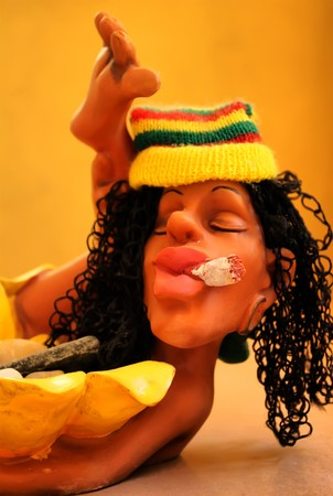 jamaican adult: fun figure of jamacian person Stock Photo