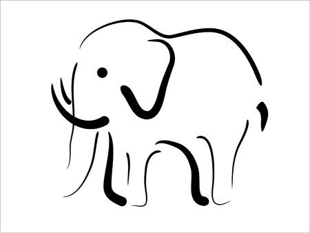 silhouettes elephants: Foto de vector de abstracto de elefante negro