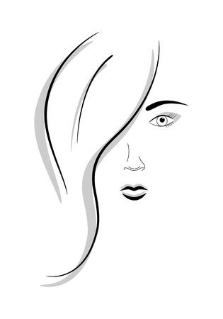 Abstract beeld van gezicht van mooi meisje