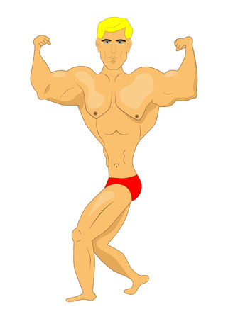 picture of muscular man  Vector