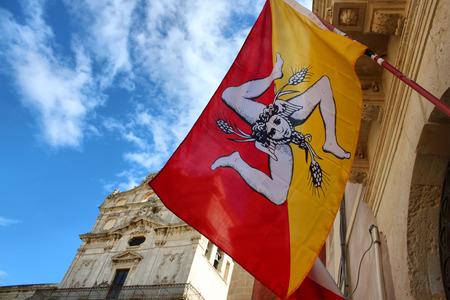 sycylijski: sicilian flag Zdjęcie Seryjne