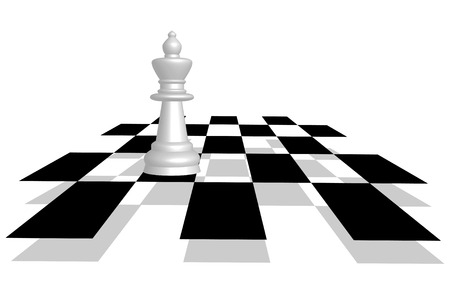 diminishing perspective: chess. Queen on the battlefield in perspective.