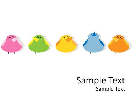 paloma caricatura: Foto de vector de canto de aves